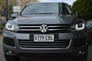 2014 Volkswagen Touareg 7P MY14 V6 TDI Tiptronic 4MOTION Grey 8 Speed Sports Automatic Wagon.