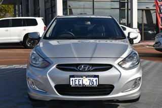 2013 Hyundai Accent RB Premium Silver 4 Speed Sports Automatic Hatchback
