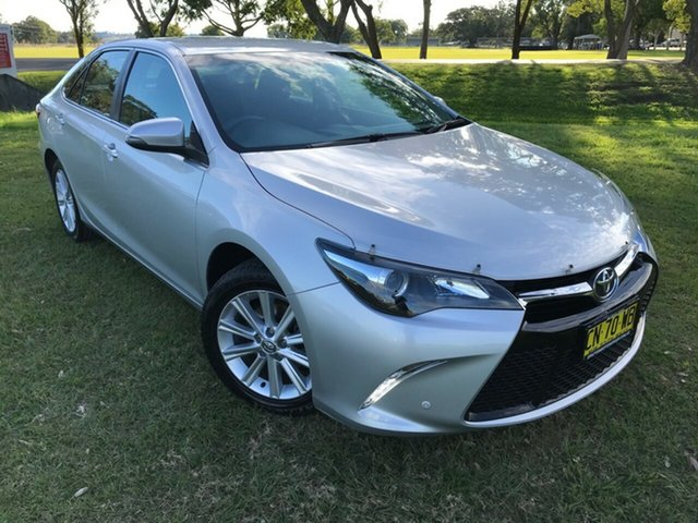 Pre-Owned Toyota Camry ASV50R Atara S South Grafton, 2017 Toyota Camry ASV50R Atara S Silver 6 Speed Sports Automatic Sedan