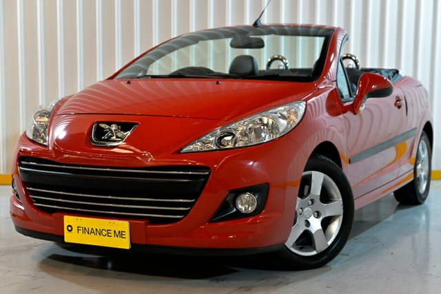 Used Peugeot 207 A7 Series II MY12 CC, 2012 Peugeot 207 A7 Series II MY12 CC Red/Black 4 Speed Sports Automatic Cabriolet
