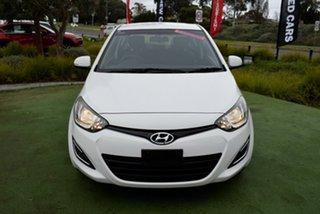 2014 Hyundai i20 PB MY14 Active White 6 Speed Manual Hatchback.