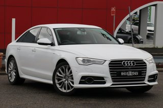 2015 Audi A6 4G MY16 S Line S Tronic White 7 Speed Sports Automatic Dual Clutch Sedan.
