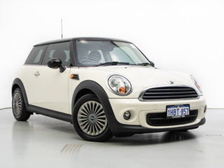 2013 Mini Cooper R56 MY13 White 6 Speed Automatic Hatchback.