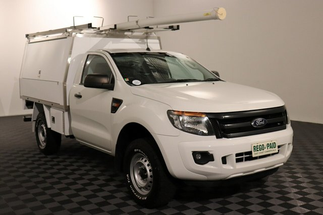 Used Ford Ranger PX XL, 2015 Ford Ranger PX XL White 6 speed Manual Cab Chassis