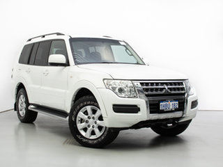 2015 Mitsubishi Pajero NX MY15 GLX LWB (4x4) White 5 Speed Auto Sports Mode Wagon.