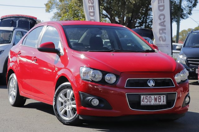 Used Holden Barina TM MY15 CD, 2014 Holden Barina TM MY15 CD Red 6 Speed Automatic Sedan