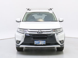 2016 Mitsubishi Outlander ZK MY16 LS (4x4) White Continuous Variable Wagon.