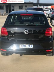 2015 Volkswagen Polo 6R MY15 81TSI DSG Comfortline Black 7 Speed Sports Automatic Dual Clutch