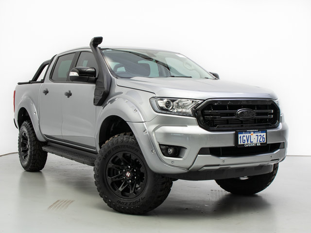 Used Ford Ranger PX MkIII MY19 XLT 3.2 (4x4), 2019 Ford Ranger PX MkIII MY19 XLT 3.2 (4x4) Silver 6 Speed Automatic Double Cab Pickup