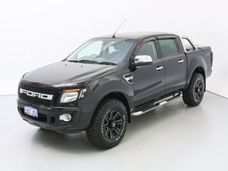 2014 Ford Ranger PX XLT 3.2 (4x4) Black 6 Speed Automatic Dual Cab Utility