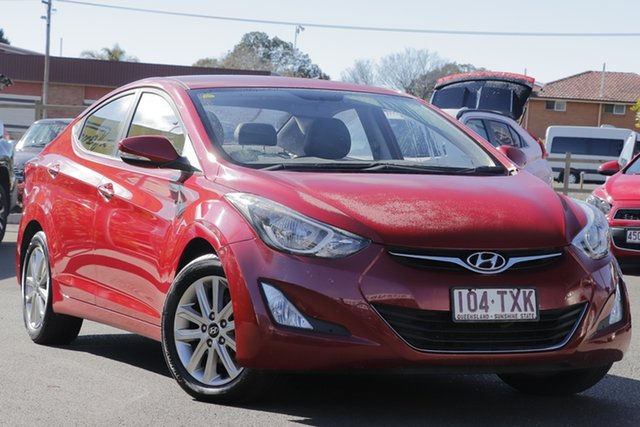 Used Hyundai Elantra MD3 Trophy, 2014 Hyundai Elantra MD3 Trophy Brilliant Red 6 Speed Manual Sedan