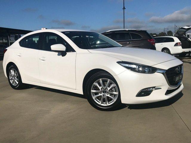 Used Mazda 3 BN5276 Touring SKYACTIV-MT, 2018 Mazda 3 BN5276 Touring SKYACTIV-MT Crystal White Pearl 6 Speed Manual Sedan
