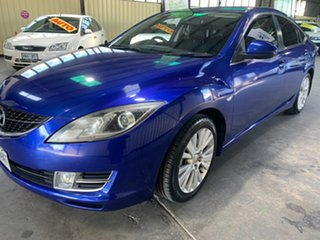 2008 Mazda 6 GH1051 Classic Blue 5 Speed Sports Automatic Hatchback.