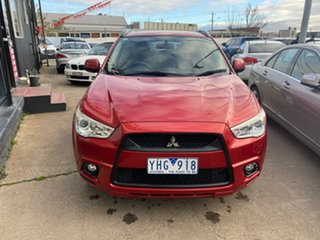 2011 Mitsubishi ASX XA MY11 Red 6 Speed Constant Variable Wagon.
