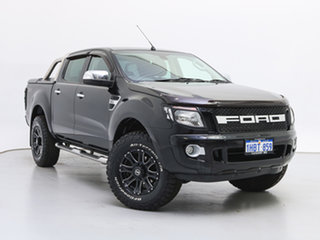2014 Ford Ranger PX XLT 3.2 (4x4) Black 6 Speed Automatic Dual Cab Utility.