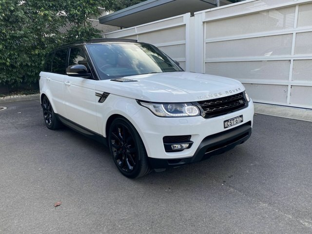 Used Land Rover Range Rover Sport L494 MY14 V8SC HSE Dynamic, 2013 Land Rover Range Rover Sport L494 MY14 V8SC HSE Dynamic White 8 Speed Sports Automatic Wagon