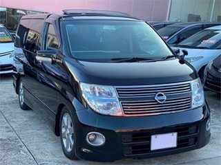 2009 Nissan Elgrand NE51 Highwaystar Black Automatic Wagon.