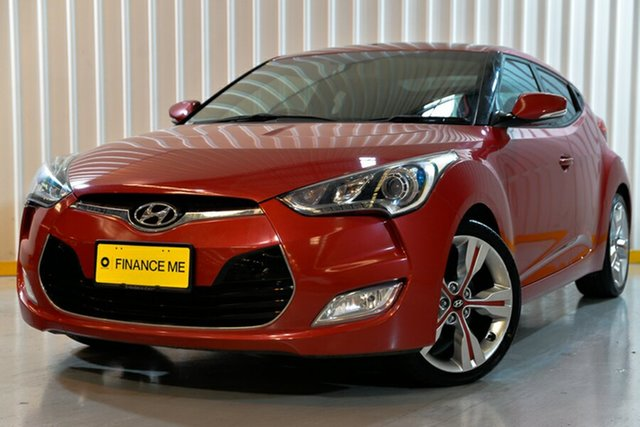Used Hyundai Veloster FS2 + Coupe, 2013 Hyundai Veloster FS2 + Coupe Red/Black 6 Speed Manual Hatchback