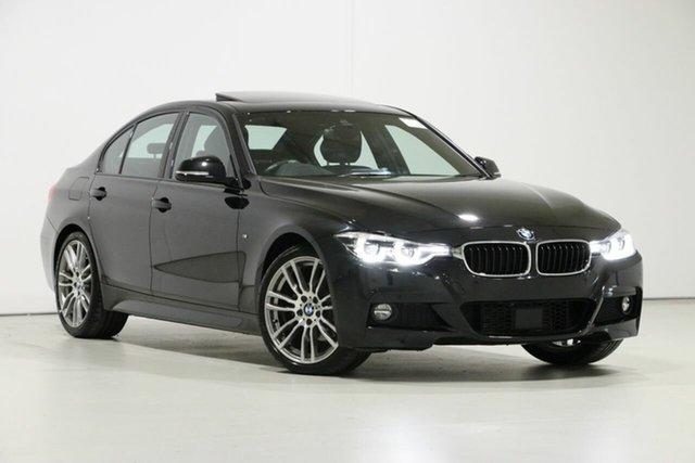 Used BMW 320d F30 LCI M Sport, 2018 BMW 320d F30 LCI M Sport Black Sapphire 8 Speed Automatic Sedan