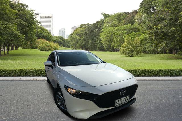 Used Mazda 3 BP2H7A G20 SKYACTIV-Drive Pure, 2019 Mazda 3 BP2H7A G20 SKYACTIV-Drive Pure White 6 Speed Sports Automatic Hatchback
