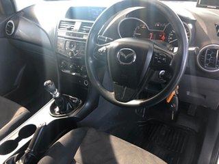 2012 Mazda BT-50 XT Hi-Rider (4x2) White 6 Speed Manual Dual Cab Utility.
