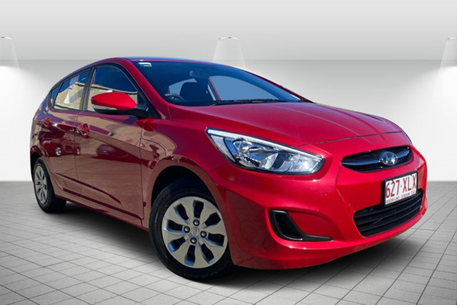 Used Hyundai Accent RB4 MY16 SR, 2016 Hyundai Accent RB4 MY16 SR Red 6 Speed Sports Automatic Hatchback