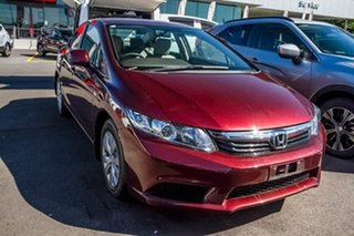 2012 Honda Civic 9th Gen Ser II VTi Red 5 Speed Sports Automatic Sedan.