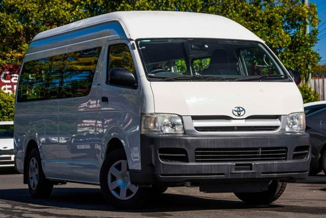 Used Toyota HiAce TRH223R Commuter High Roof Super LWB, 2006 Toyota HiAce TRH223R Commuter High Roof Super LWB White 4 Speed Automatic Bus