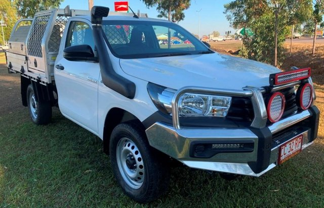 Used Toyota Hilux GUN125R Workmate, 2015 Toyota Hilux GUN125R Workmate White 6 Speed Sports Automatic Cab Chassis