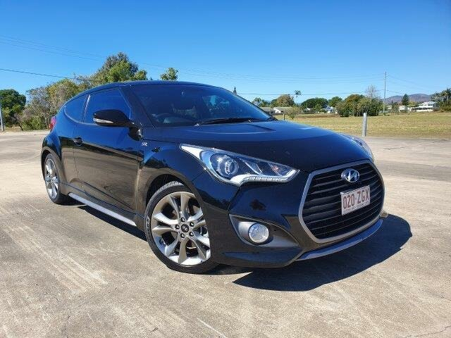 Used Hyundai Veloster FS4 Series II SR Coupe Turbo, 2015 Hyundai Veloster FS4 Series II SR Coupe Turbo Black 6 Speed Manual Hatchback