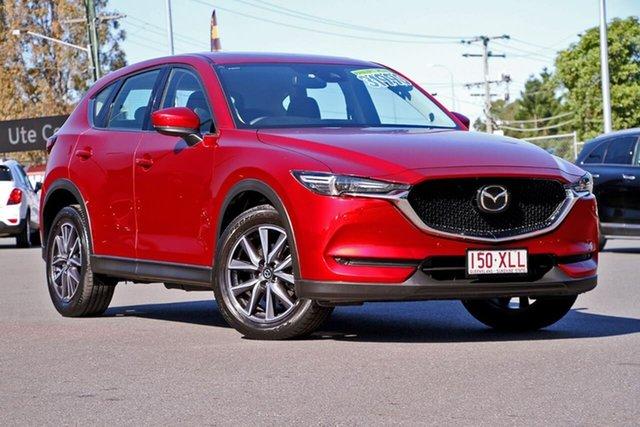 Used Mazda CX-5 KF4W2A Akera SKYACTIV-Drive i-ACTIV AWD, 2017 Mazda CX-5 KF4W2A Akera SKYACTIV-Drive i-ACTIV AWD Red 6 Speed Sports Automatic Wagon