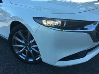 2020 Mazda 3 BP2S7A G20 SKYACTIV-Drive Touring White Pearl 6 Speed Sports Automatic Sedan.