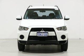 2010 Mitsubishi Outlander ZH MY10 LS White 6 Speed CVT Auto Sequential Wagon.