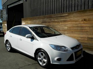 2012 Ford Focus LW MkII Trend PwrShift White 6 Speed Sports Automatic Dual Clutch Sedan.