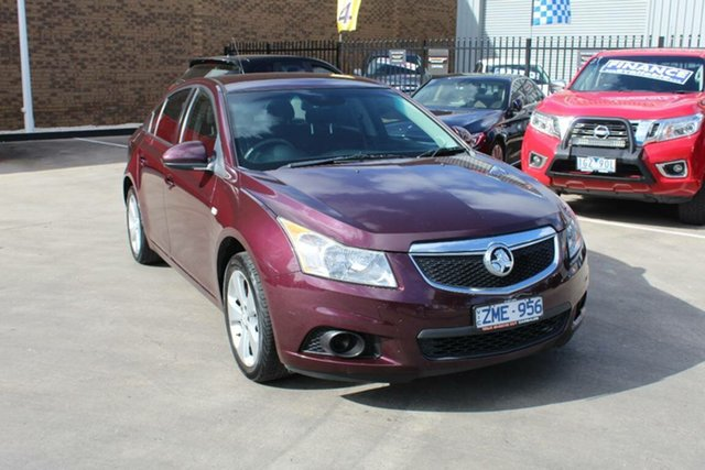 Used Holden Cruze JH MY12 Equipe Hoppers Crossing, 2012 Holden Cruze JH MY12 Equipe Maroon 6 Speed Automatic Sedan
