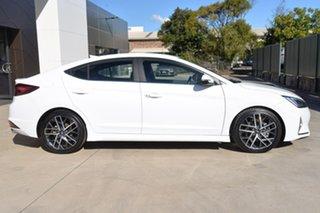 2019 Hyundai Elantra AD.2 MY19 Sport DCT White 7 Speed Sports Automatic Dual Clutch Sedan.