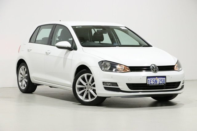 Used Volkswagen Golf AU MY15 103 TSI Highline, 2015 Volkswagen Golf AU MY15 103 TSI Highline White 7 Speed Auto Direct Shift Hatchback