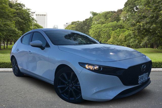 Demo Mazda 3 BP2HLA G25 SKYACTIV-Drive GT, 2019 Mazda 3 BP2HLA G25 SKYACTIV-Drive GT White Pearl 6 Speed Sports Automatic Hatchback
