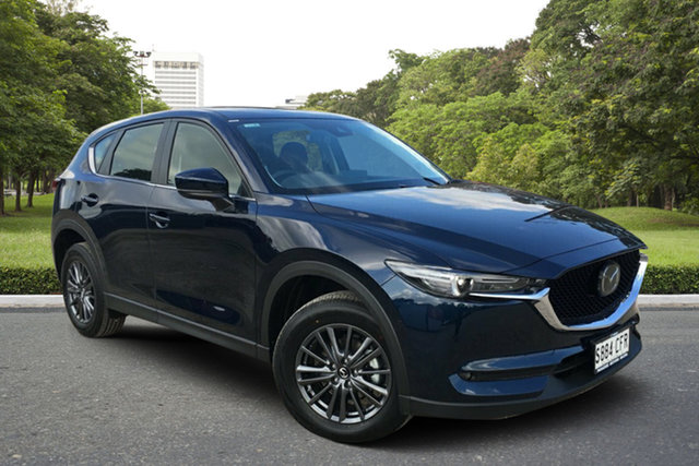 Demo Mazda CX-5 KF4WLA Maxx SKYACTIV-Drive i-ACTIV AWD Sport, 2020 Mazda CX-5 KF4WLA Maxx SKYACTIV-Drive i-ACTIV AWD Sport Deep Crystal Blue 6 Speed
