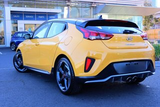 2020 Hyundai Veloster JS MY20 Turbo Coupe D-CT Yellow 7 Speed Sports Automatic Dual Clutch Hatchback.