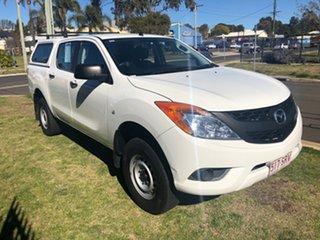 2012 Mazda BT-50 XT Hi-Rider (4x2) White 6 Speed Manual Dual Cab Utility