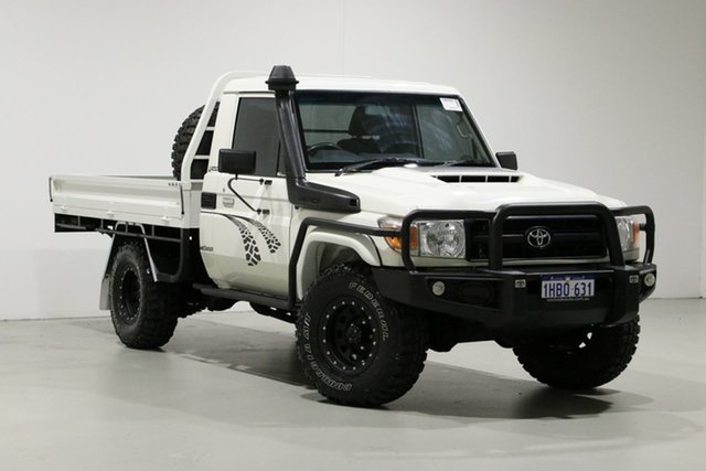 Used Toyota Landcruiser LC70 VDJ79R MY17 Workmate (4x4), 2017 Toyota Landcruiser LC70 VDJ79R MY17 Workmate (4x4) White 5 Speed Manual Cab Chassis