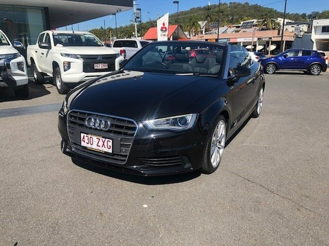Used Audi A3 8V MY15 Attraction S Tronic, 2014 Audi A3 8V MY15 Attraction S Tronic Black 7 Speed Sports Automatic Dual Clutch Cabriolet