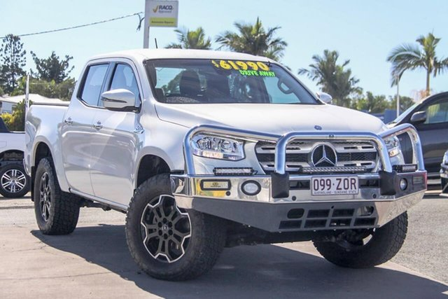 Used Mercedes-Benz X-Class 470 X350d 7G-Tronic + 4MATIC Progressive, 2020 Mercedes-Benz X-Class 470 X350d 7G-Tronic + 4MATIC Progressive White 7 Speed Sports Automatic