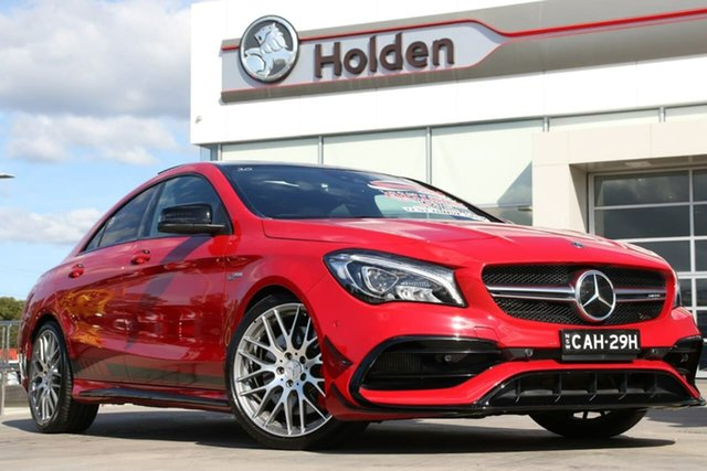 Used Mercedes-Benz CLA-Class C117 808+058MY CLA45 AMG SPEEDSHIFT DCT 4MATIC, 2018 Mercedes-Benz CLA-Class C117 808+058MY CLA45 AMG SPEEDSHIFT DCT 4MATIC Jupiter Red 7 Speed
