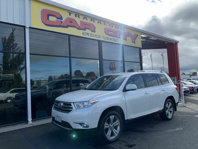 Used Toyota Kluger GSU45R MY11 Upgrade KX-S (4x4), 2011 Toyota Kluger GSU45R MY11 Upgrade KX-S (4x4) White 5 Speed Automatic Wagon