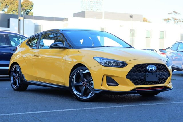 Used Hyundai Veloster JS MY20 Turbo Coupe D-CT, 2020 Hyundai Veloster JS MY20 Turbo Coupe D-CT Yellow 7 Speed Sports Automatic Dual Clutch Hatchback