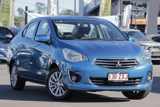2016 Mitsubishi Mirage LA MY16 ES Blue 1 Speed Constant Variable Sedan.