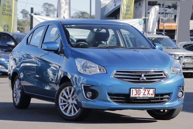 Used Mitsubishi Mirage LA MY16 ES, 2016 Mitsubishi Mirage LA MY16 ES Blue 1 Speed Constant Variable Sedan