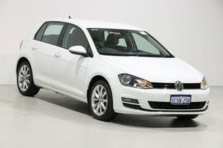 2015 Volkswagen Golf AU MY15 103 TSI Highline White 7 Speed Auto Direct Shift Hatchback